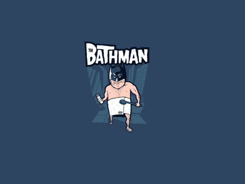 Funny Batman in the bath Cartoons