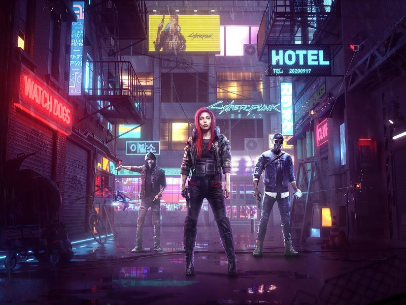 Cyberpunk 2077:Watch Dogs Crossover Aiden Pearce And Marcus Holloway